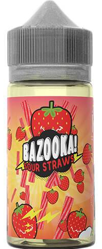 Bazooka Sour Straws Strawberry 100ml