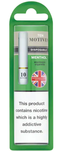 Disposable Electronic Cigarette Menthol 10's