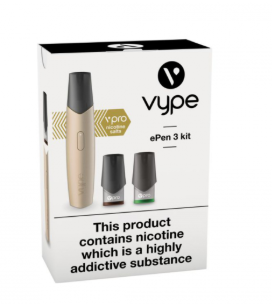 Vype ePen 3 Starter Kit vPro Nic Salts Starter Kit gold