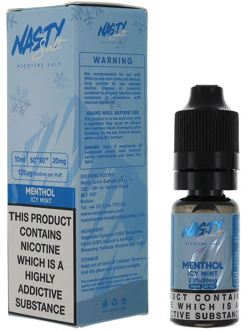 NASTY SALT NICOTINE SALT MENTHOL ICE MINT 10ML 20MG