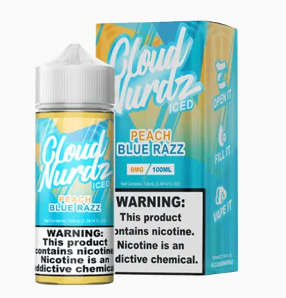 Cloud Nerdz Peach Blue Razz ICED 100ml
