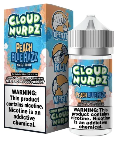 Cloud Nerdz Peach Blue Razz 100ml