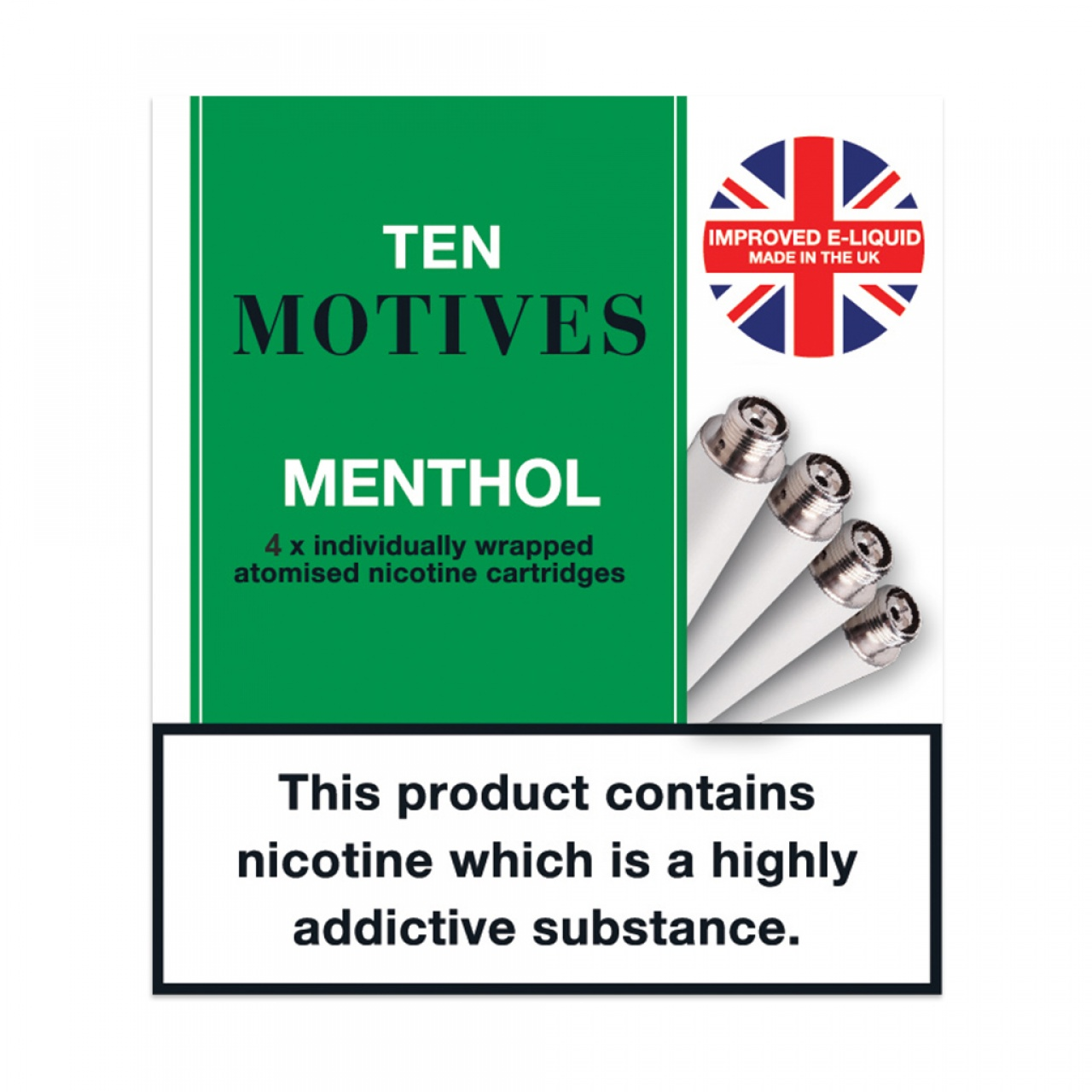 Ten Motives Menthol Refills  Rechargeable
